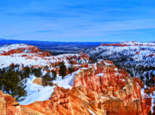 View from Sunrise Point Bryce Canyon National Park in the Snow Utah 2