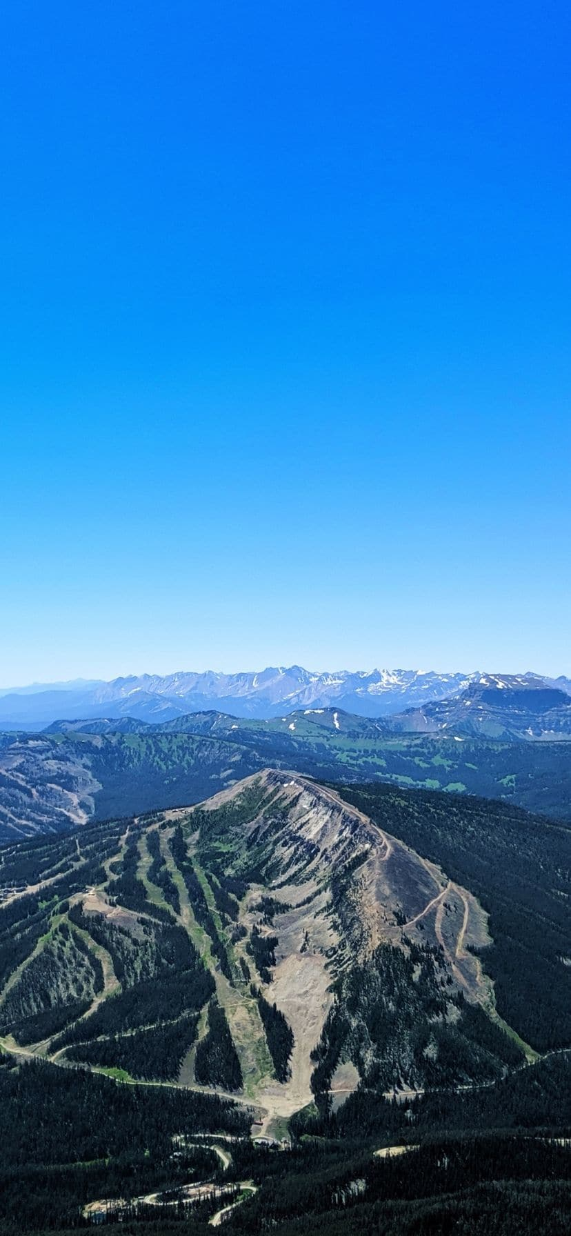 View from top of Lone Mountain Big Sky Resort Montana