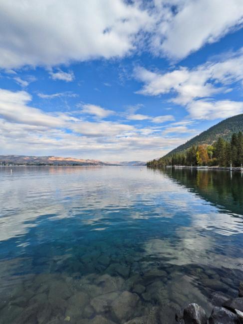 View of Lake Chelan from Lake Chelan State Park Washington 1