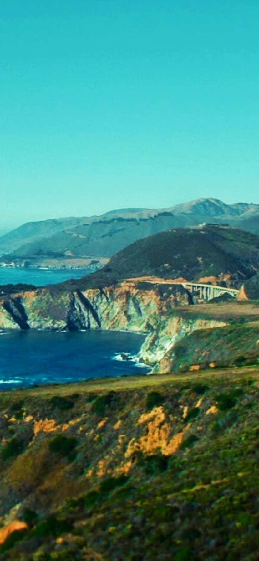 Vintage Big Sur Bixby Bridge California Coast Road Trip