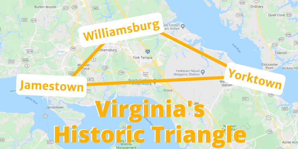 Virginia's Historic Triangle Map