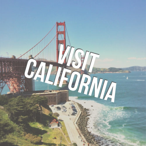 Visit California button