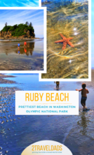 Ruby Beach in Olympic National Park is the prettiest beach in Washington. In a remote part of the Olympic Peninsula, it's the perfect add to a road trip or hiking adventure on the Pacific Coast. #beach #nationalpark #washington