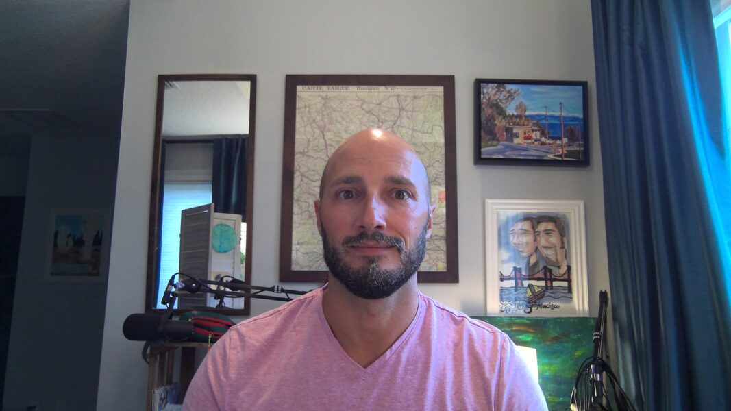 Rob Taylor with Videocall Background