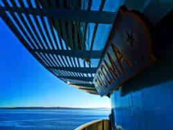 WSF Tacoma sign on Bainbridge ferry 1