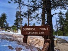 Walking path to Sunrise Point at Bryce Canyon National Park Utah 1