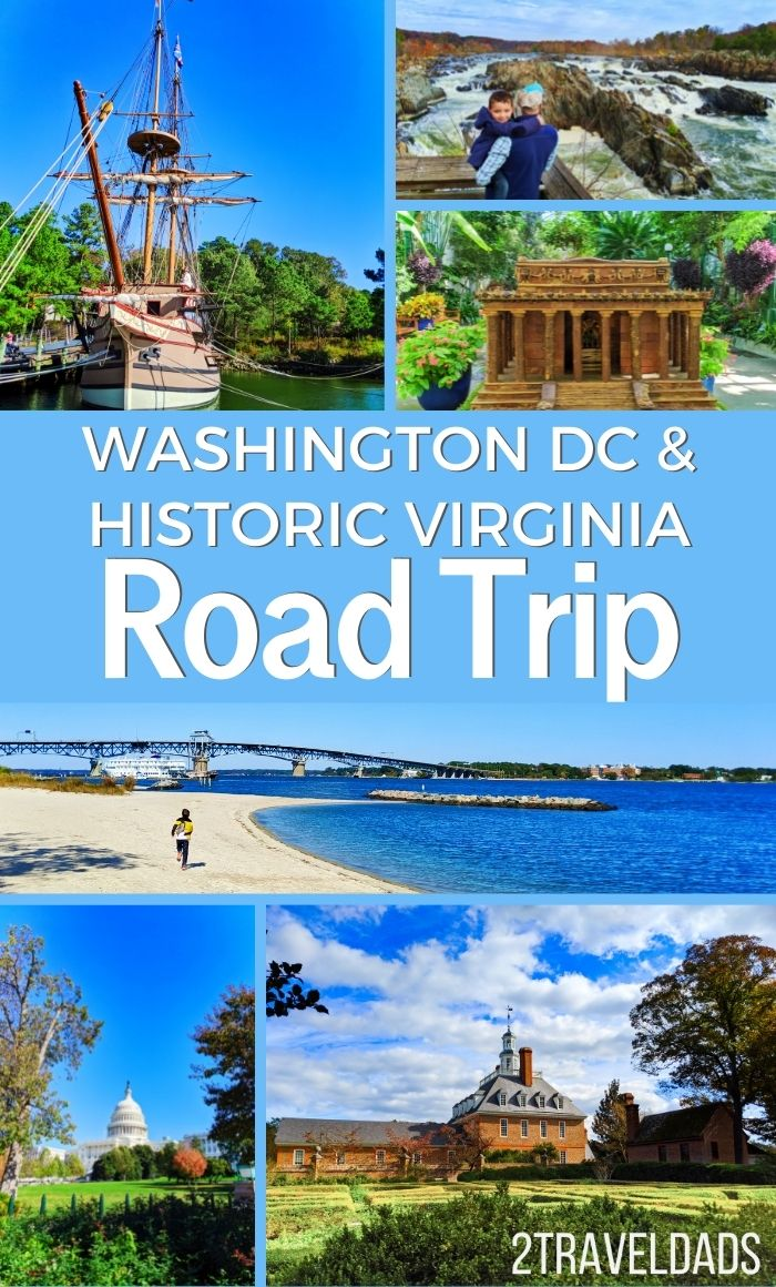 Fun, historic Washington DC and Virginia road trip plan. From the best things to do near DC to Virginia Beach and Williamsburg, this great road trip includes Revolutionary War history and beautiful nature.