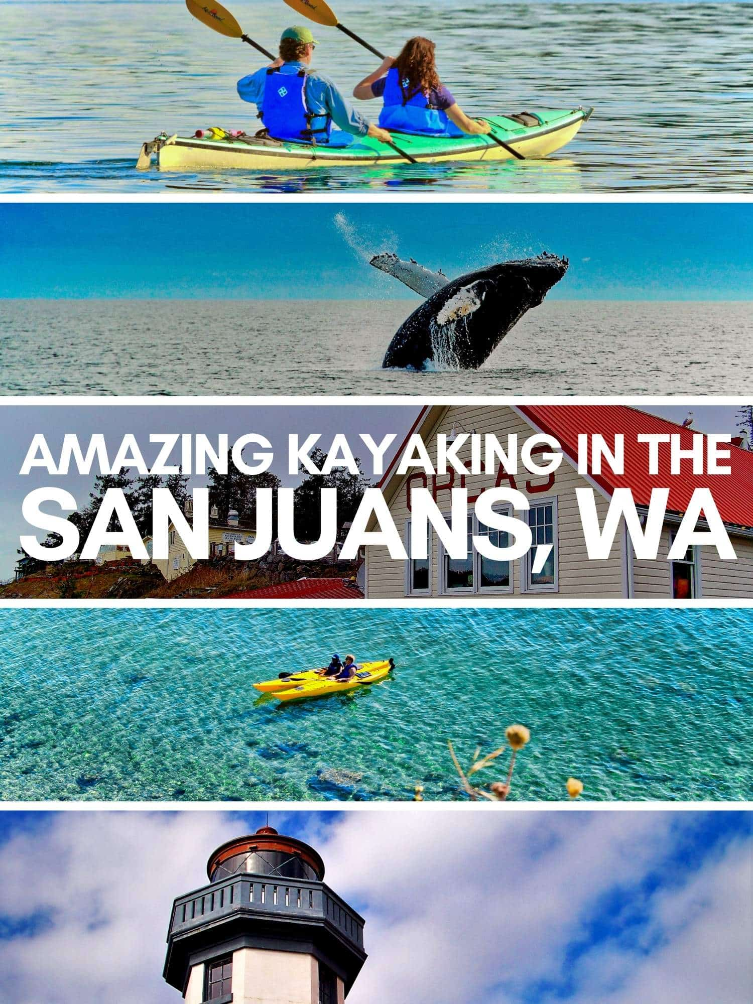 Best kayaking in the San Juan Islands of Washington. Kayak tours and best places to launch in the San Juans, including bioluminescence and kayaking with orcas near Seattle. Best places to launch kayaks on Orcas, Shaw, Lopez and San Juan Island.