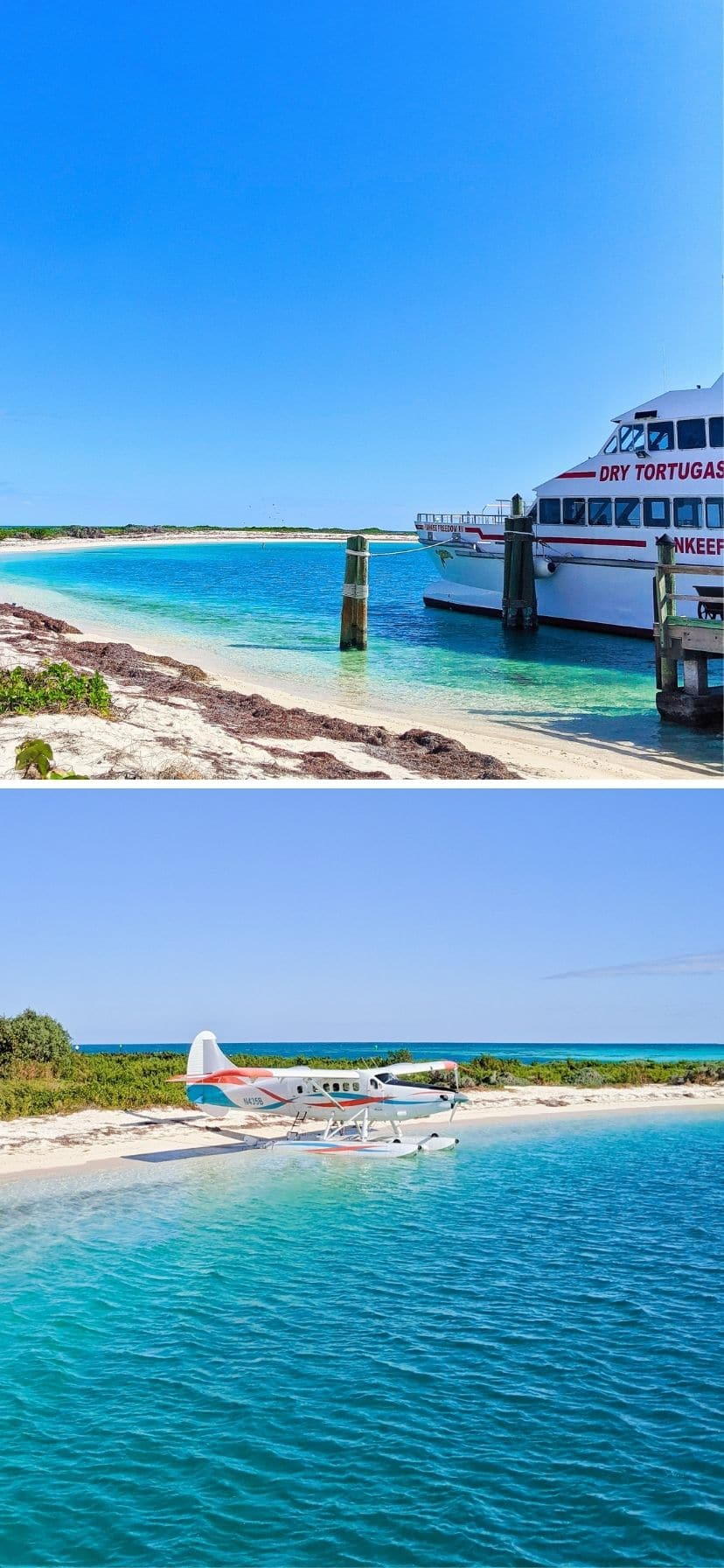 Ferry and seaplane to Dry Tortugas National Park, Florida Keys