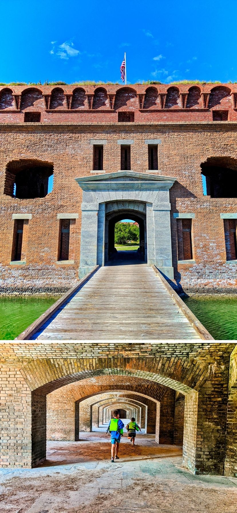 Fort Jefferson, Civil War era fortress at Dry Tortugas National Park, Florida Keys