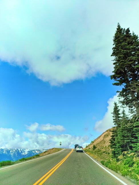 Winding Road up to Hurricane Ridge Olympic National Park Washington 4