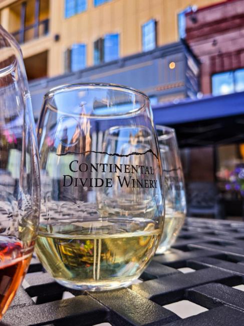 Wine Flight at Continental Divide Winery Breckenridge Colorado 1