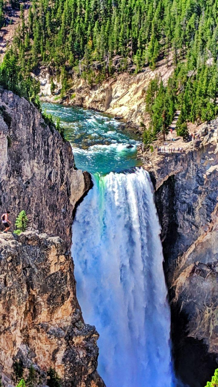 Yellowstone Falls Canyon, 2 Days in Yellowstone Itinerary