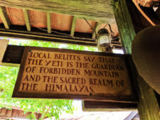 Yeti Sign on Expedition Everest Disneys Animal Kingdom Disney World Orlando Florida 2