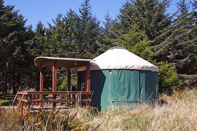 Yurt at Cape Disappointment State Park Long Beach Peninsula Washington 1