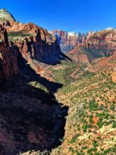 Zion Canyon from Canyon Overlook trail eastern side Zion National Park Utah 4