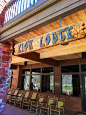 Zion Lodge with rocking chairs Zion National Park Utah 1