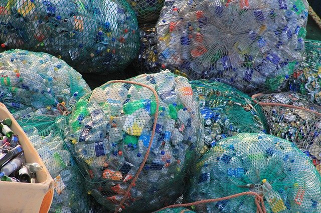 Bagged plastic bottles